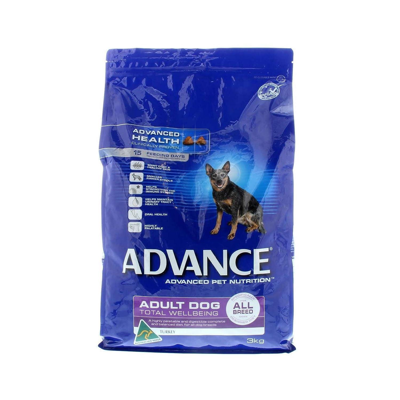 Advance Dog Food Adult Turkey Total Wellbeing Turkey All Breeds 3kg:  Amazon.com.au: Pet Supplies