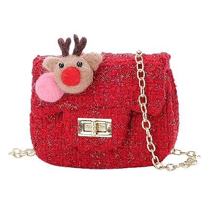 Lazzboy Bolso de Lana para niños Cute Mini Girl Messenger ...