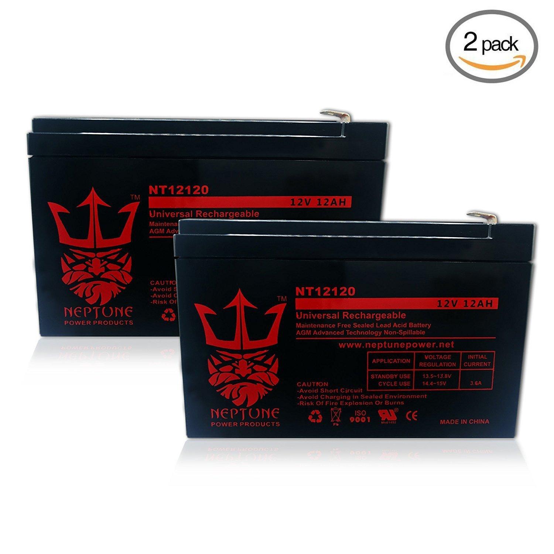 Neptune 12V 12Ah NT-12120 Rechargeable SLA Sealed Lead Acid Battery - 2 Pack