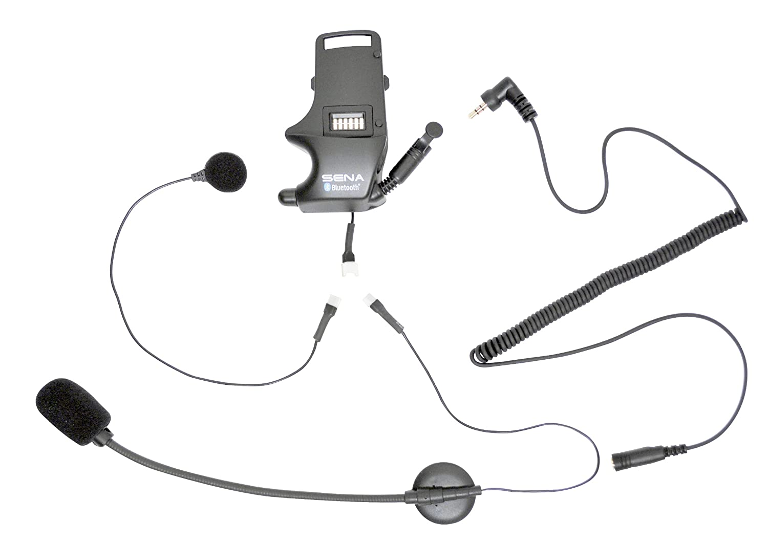 Sena SMH-A0304 Helmet Clamp Kit for Earbuds with Attachable Boom Microphone and Wired Microphone Sena Bluetooth