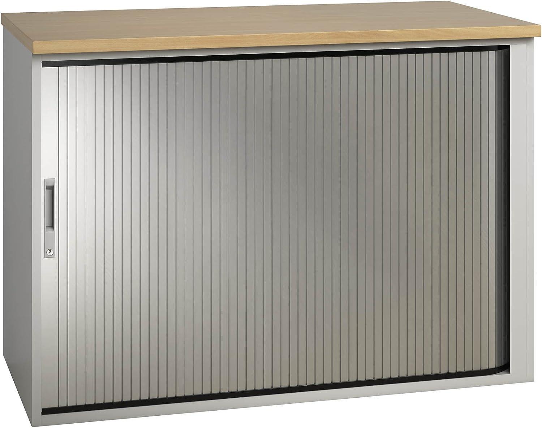 Nova Eco alta calidad Tambour unidad de armario, bajo (alto) de escritorio, madera de haya: Amazon.es: Oficina y papelería