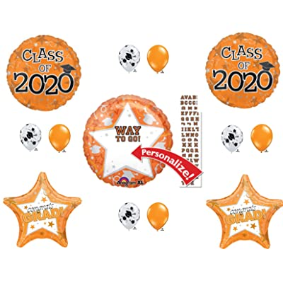 PERSONALIZE! CLASS OF 2020 Orange Graduation Party Balloons Decoration Supplies Graduate: Everything Else
