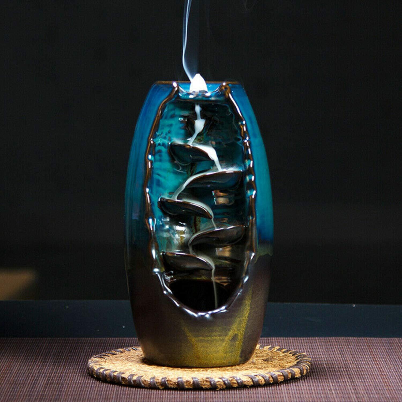 2019 Mountain River Handicraft Incense Holder Backflow Ceramic Burner Censer Holder by Beette (Image #8)
