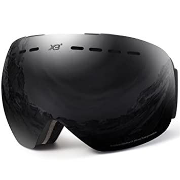 0b6056c7de70 DADA-PRO Ski goggles, Mens Women Skiing goggles Adults Over Glasses OTG  Anti-