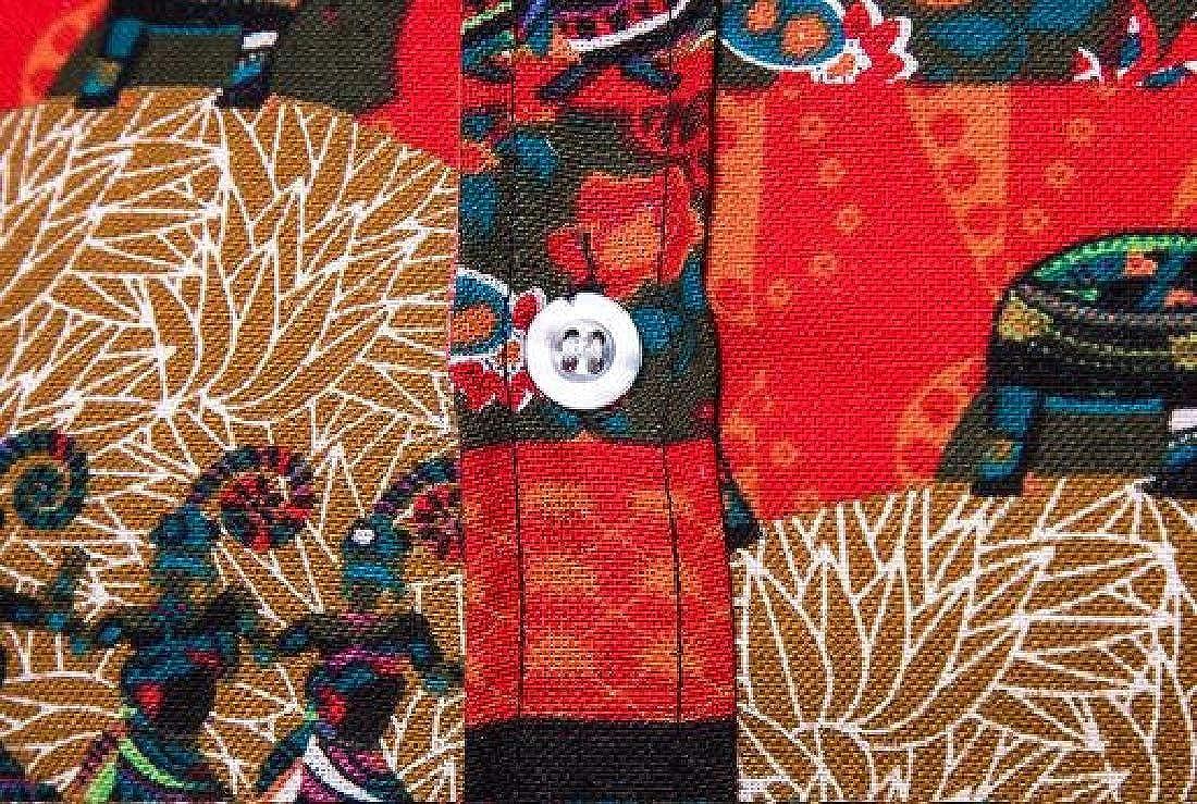 Fensajomon Men 2 Pieces Outfits Shirt Jogger Pants Short Sleeve African Print Dashiki Tracksuits