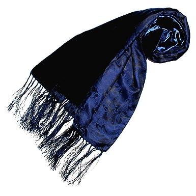 35876f8a34dc5 Lorenzo Cana Foulard de 100% soie pour la femme – écharpe double face avec  les