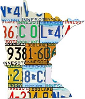 product image for MINNESOTA License Plate Plasma Cut Map Sign, 10,000 LAKES Metal Sign Garage Art Great Gift Man Cave Plasma Cut Aluminum UV Printed Rustic Sign Birthday Gift Patriotic Sign Holiday Gift