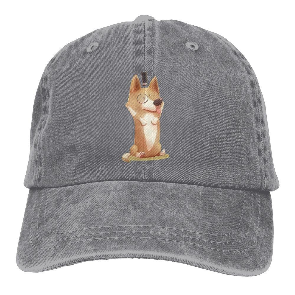 Trableade Funny Dapper Corgi Adult Sport Adjustable Structured Baseball Cowboy Hat