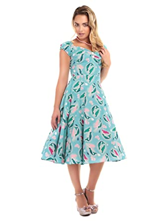 Collectif Vintage Womens 1950s Mermaid Dolores Doll Dress UK 10
