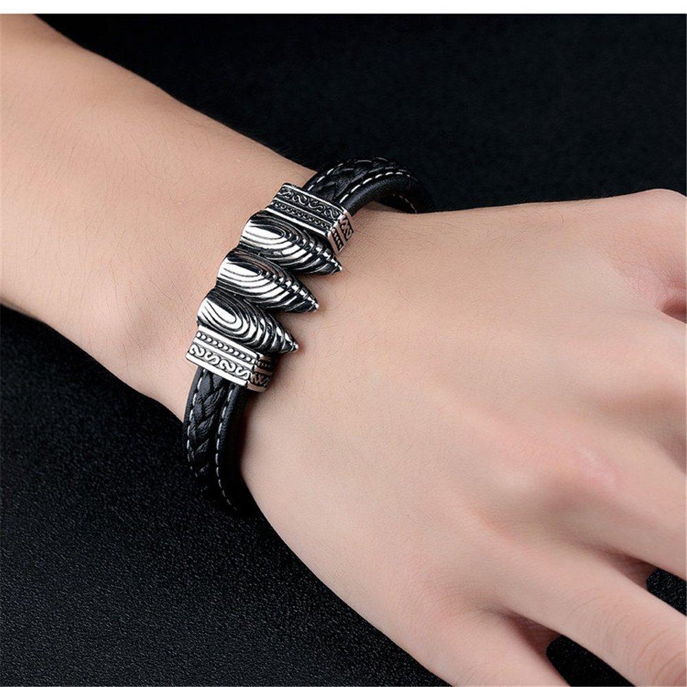 Amazon.com: Marwar Charm Bracelet Cross Stainless Steel Jesus ...