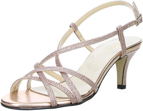 14f77ad9ada0 Vista Damen Glitzer Sandaletten Rosa  Amazon.de  Schuhe   Handtaschen