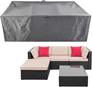 Outdoor Furniture Sectional Set Covers Patio Wicker Furniture Set Covers Waterproof Heavy Duty Durable 88