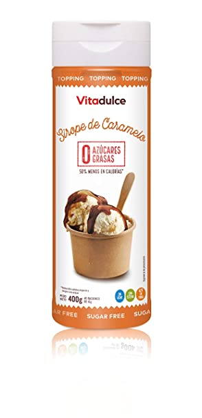 Sirope de caramelo sin azúcar, Sirope bajo en calorías, Topping de ...