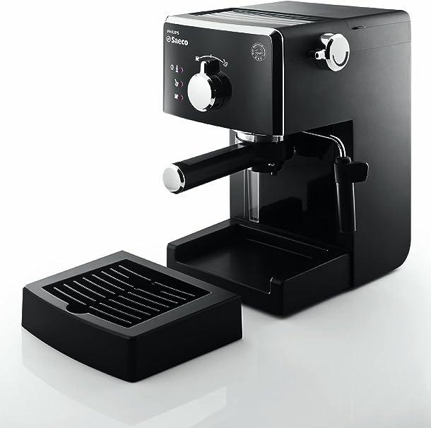 Saeco Manuelle Poemia Focus- Cafetera espresso manual, color negro: Amazon.es: Hogar