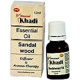 KHADI Omorose Sandalwood Essential Oil (12 ml) with Self Dispensing Dropper Plug