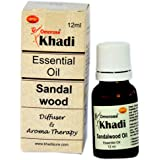 Khadi Sandalwood Essential Oil ( 12 ml ) With Self Dispensing Dropper Plug