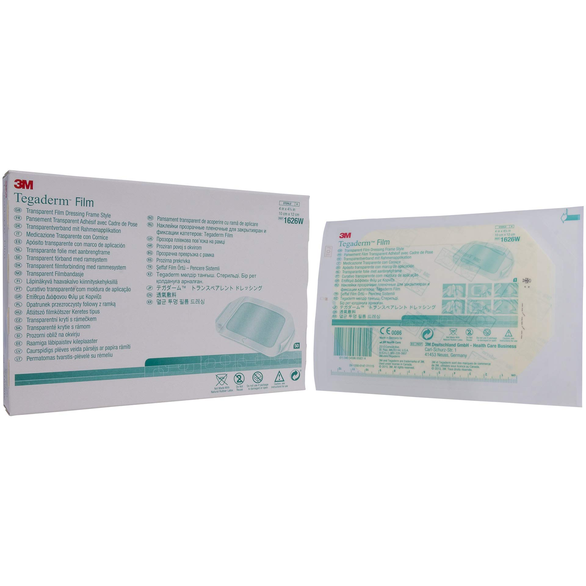 1626W Dressing Tegaderm Frame Wound LF St Film 4x4-3/4'' 50/Bx by 3M Medical Products by 3M (Image #1)