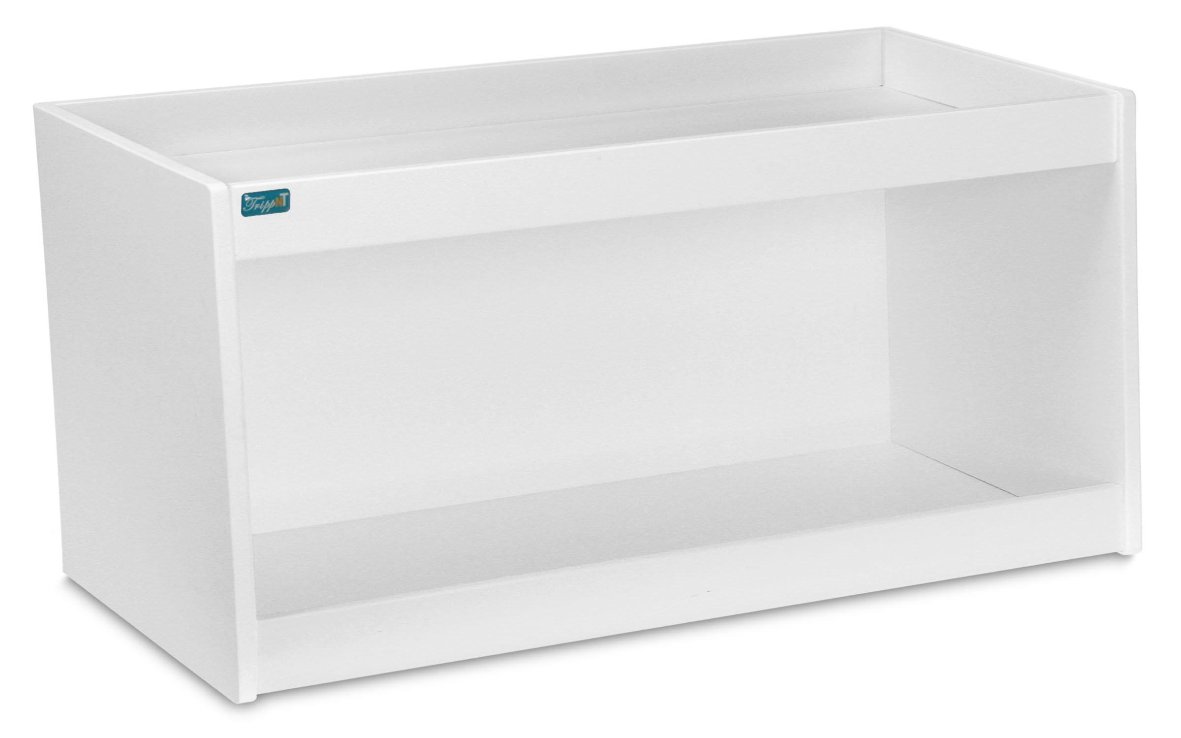 TrippNT 50487 PVC Straight Double Safety Shelves, 24'' Width x 10'' Height x 7'' Depth, White