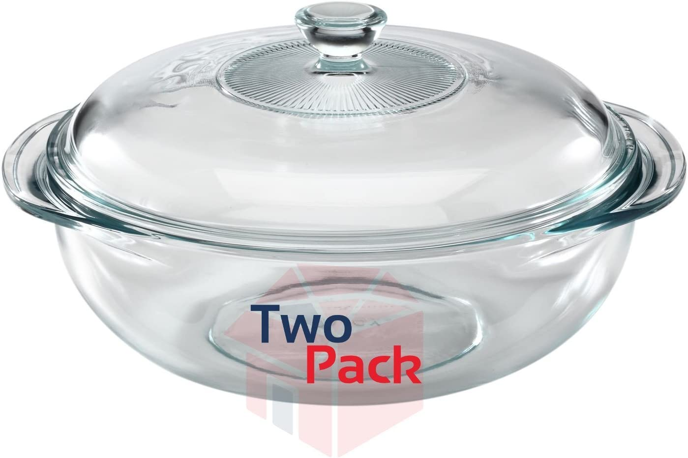 Pyrex 2-Quart Glass Bakeware Dish, (Set Of 2)