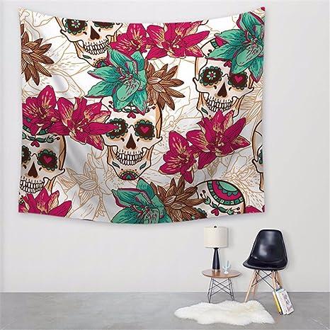 3D moda moderna impresión digital poliéster tapicería decoración mantel cuadrado cráneo toalla de playa 150x130cm,