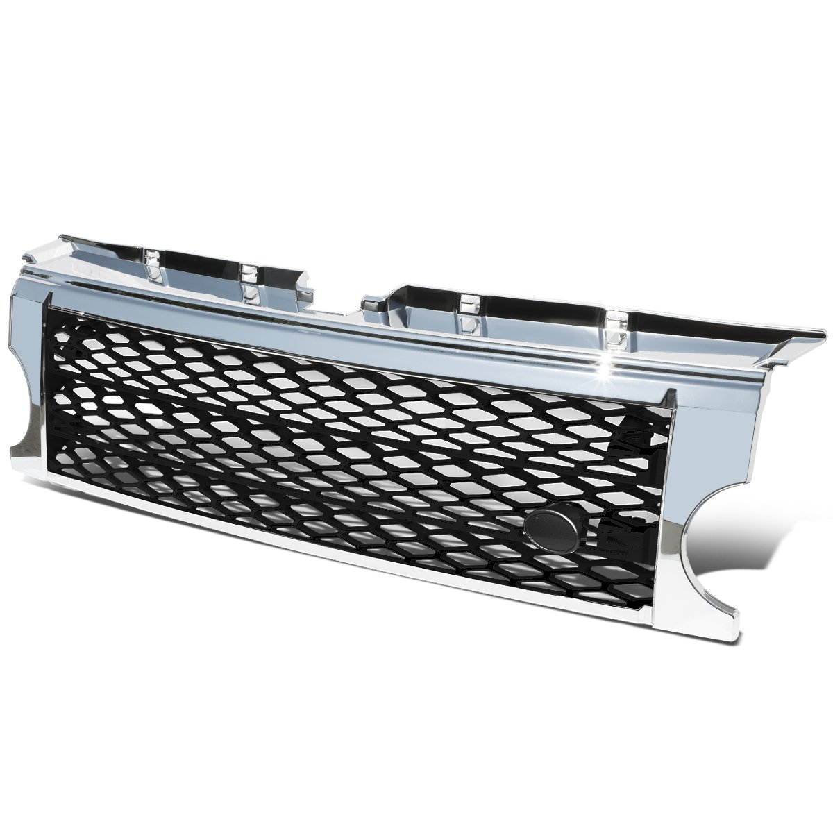 For Land Rover ABS Plastic Black Mesh Chrome Front Bumper Grille - Discovery III LR3 Auto Dynasty GRA-DSCV-0509-CMBK