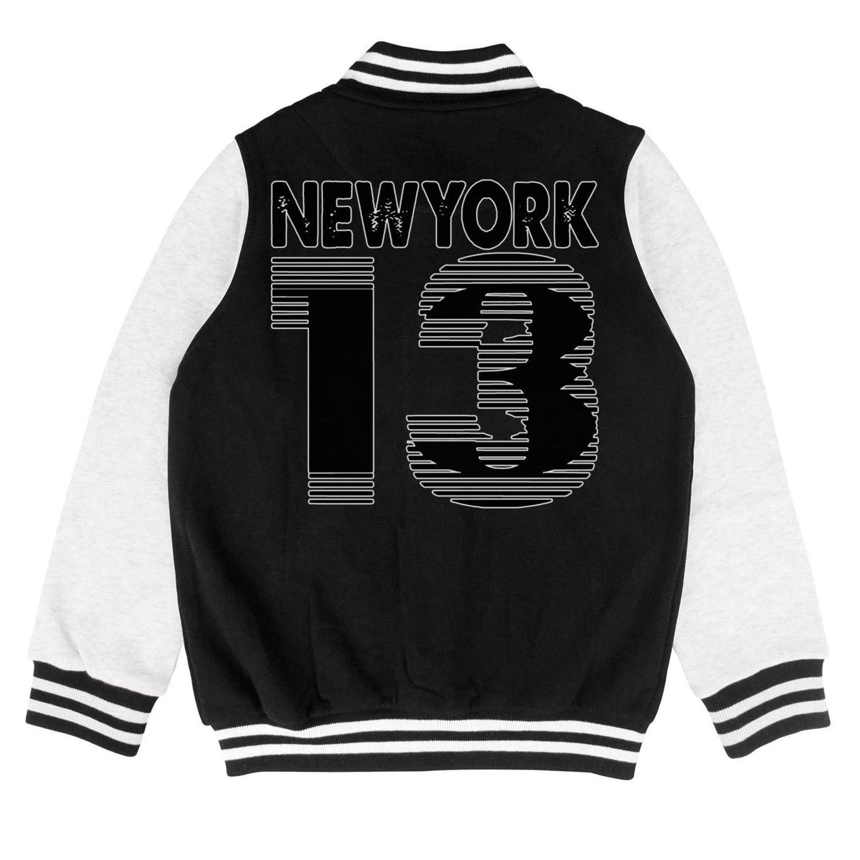Ulvsie7 Children Unisex Jacket Coat Football BTS Baseball Uniform Hoodie Athletic