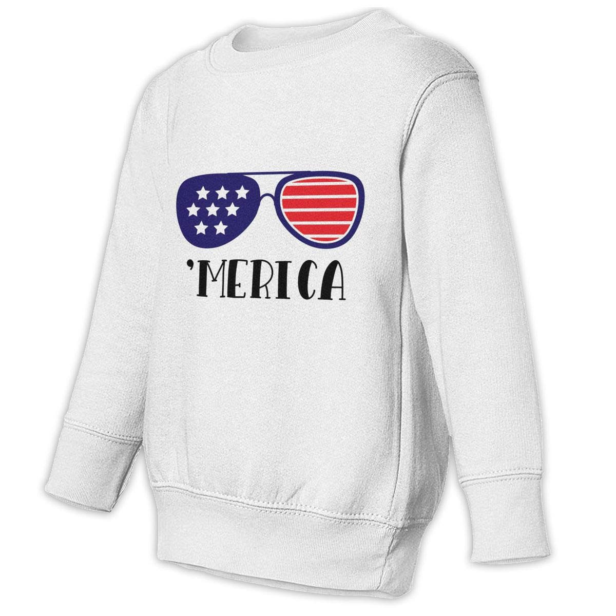 GHYNJUM Merica Sunglasses Kids Unisex Cotton Long Sleeve Round Neck Pullover