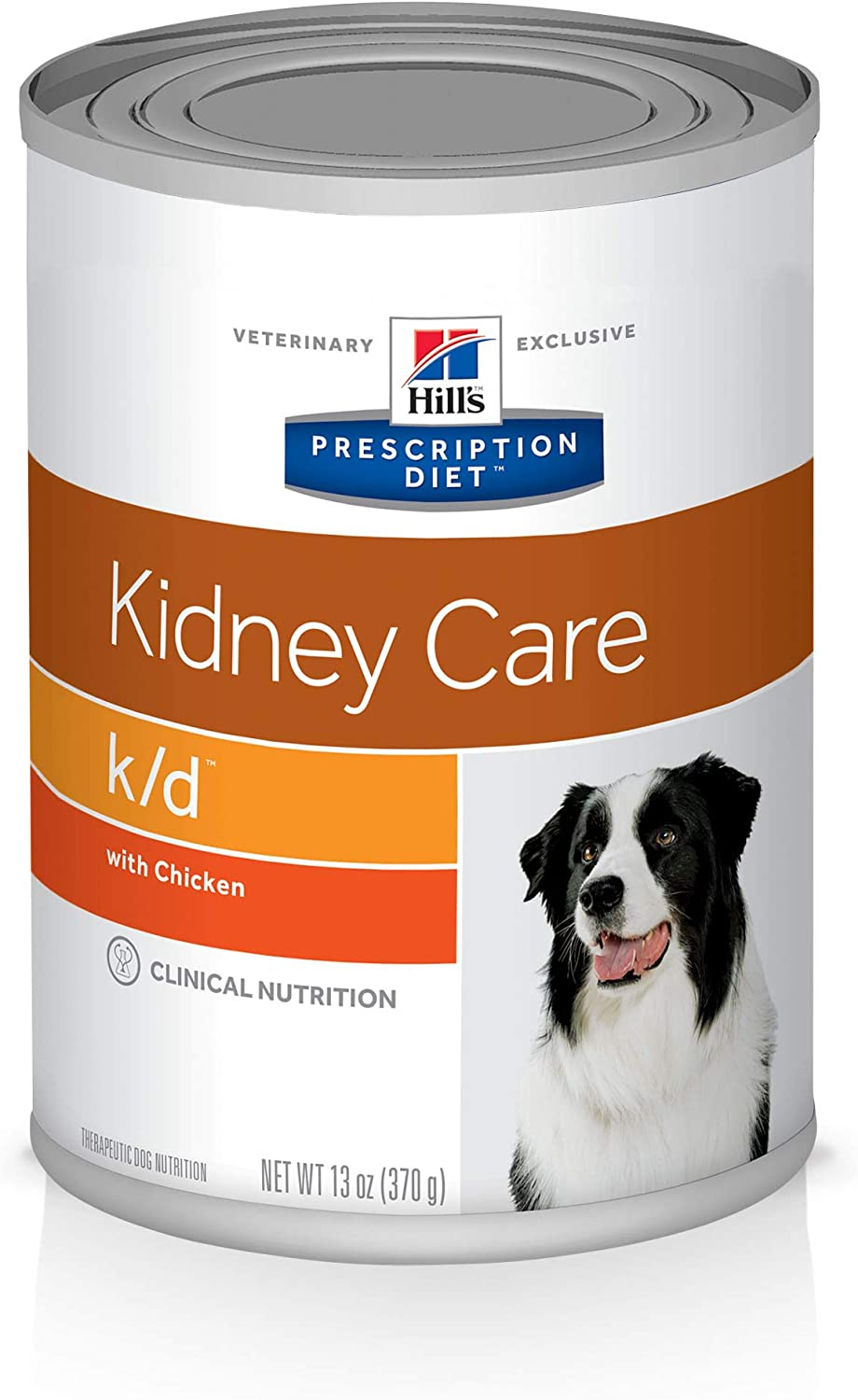Hill's Prescription Diet k/d Kidney Care with Chicken Canned Dog Food, 13 oz, 12-pack wet food