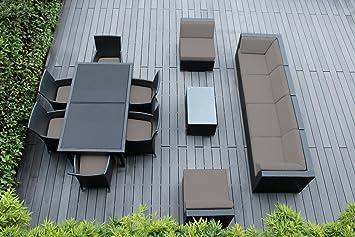 Amazon.com : Ohana Collection 14-piece Sectional Sofa And Dining ... Mobel Kollektion Rattan Garten Design