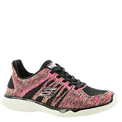 Sneakers Blackmulti Burst Studio 7 On Skechers Womens Edgy Slip fgY7b6yv