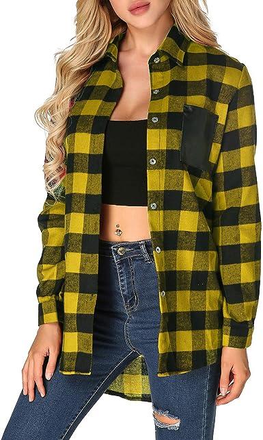 ZANZEA - Camisa de mujer chic, de manga larga, talla grande, vestido de mujer: Amazon.es: Ropa y accesorios