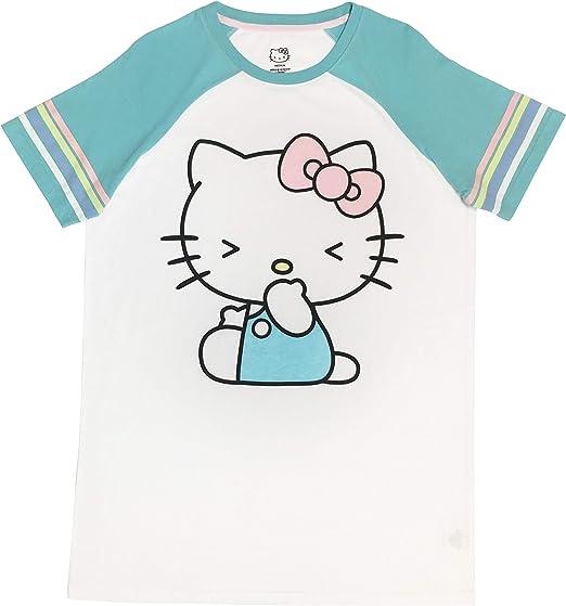 Hello Kitty Womens Cartoon Print Short Pajama Set