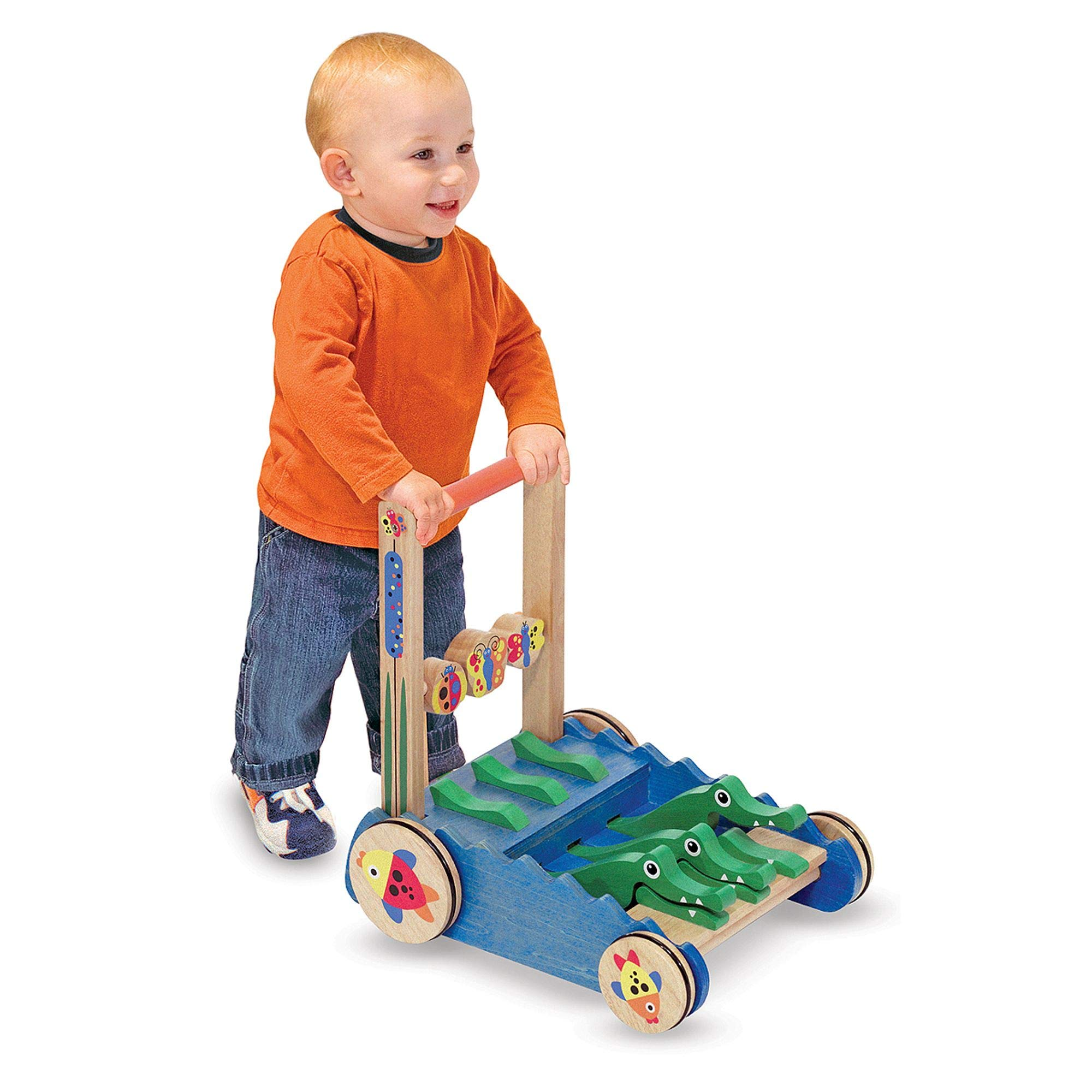 Melissa & Doug Deluxe Chomp and Clack Alligator Wooden Push Toy and Activity Walker by Melissa & Doug (Image #2)