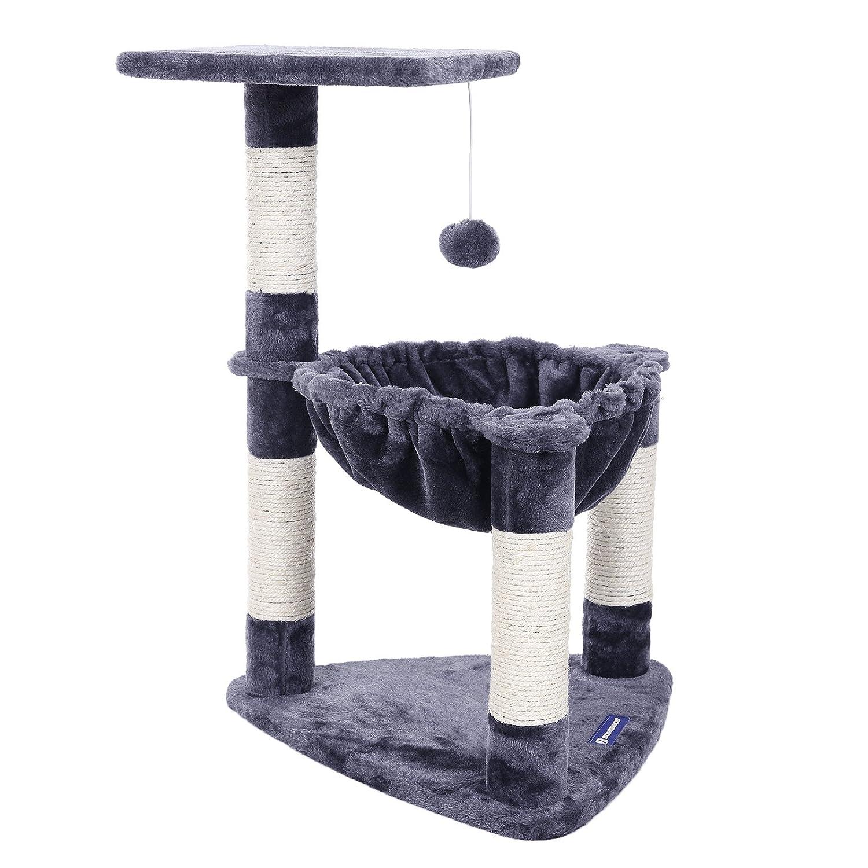 Songmics Compacto Árbol para gatos Rascador con nido redondo bola de juego
