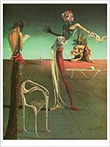 "Poster Woman with A Head of Roses. Salvadore Dali. Art Print Reproduction (16.2"" x 21.5"")"