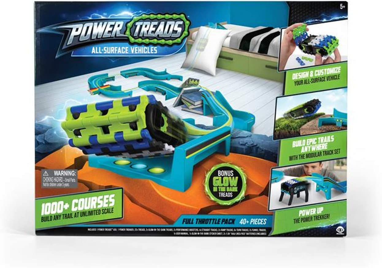 Wow Wee Power Treads Set With Track And Tracked Vehicle
