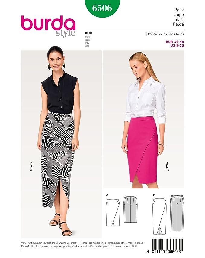 Burda patrón de costura para patrones de costura para faldas de ...