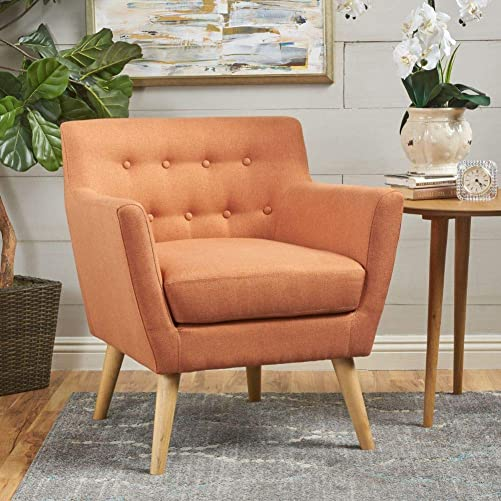 Christopher Knight Home Meena Mid-Century Modern Fabric Club Chair