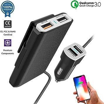 Amazon.com: Cargador de coche USB adaptador mechero de coche ...