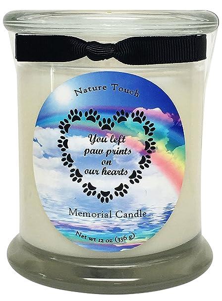 amazon com pet memorial candle 12 oz pet loss candle paraffin