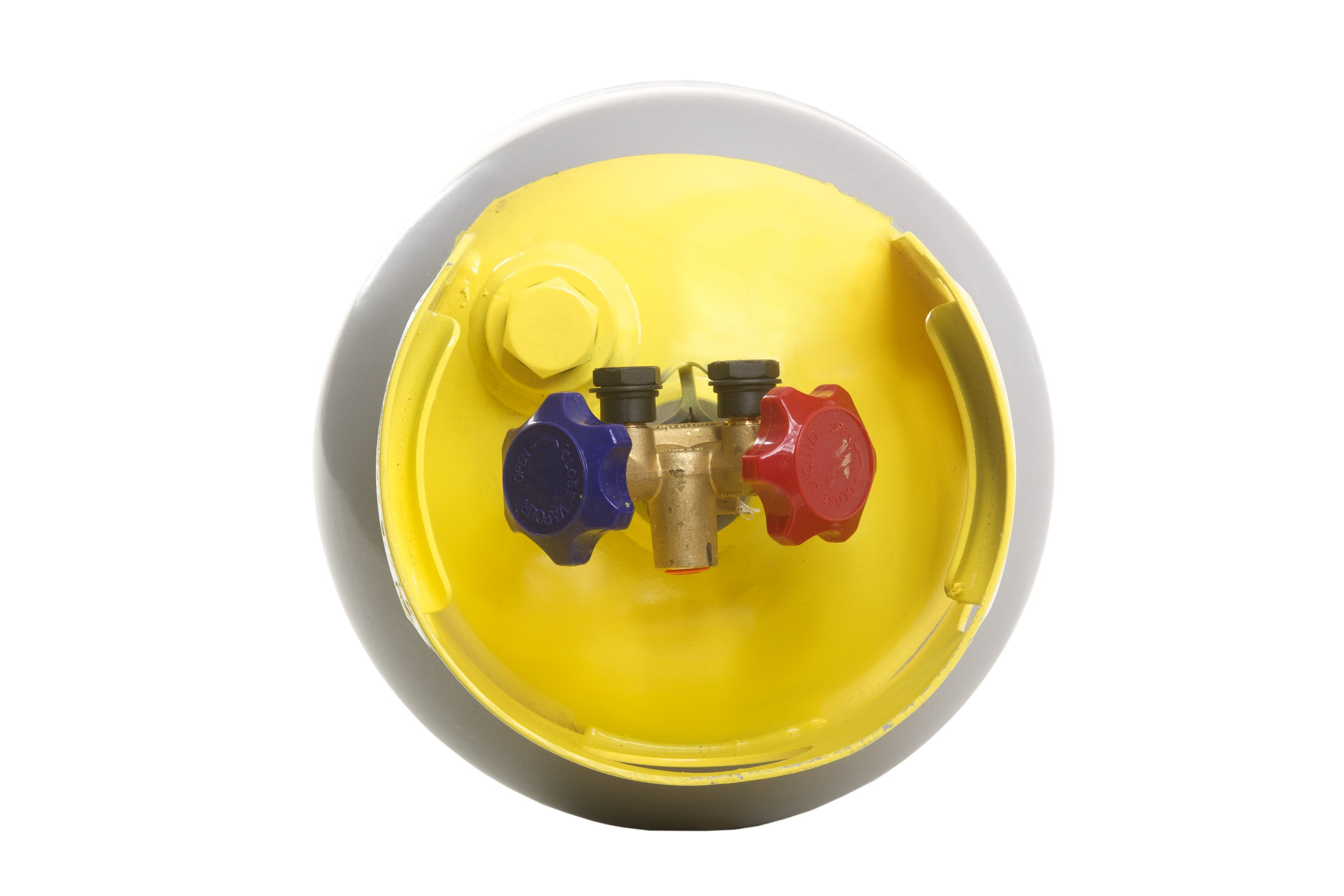Flame King Refrigerant Recovery Cylinder Tank - Reusable - DOT Compliant - Y-Valve Liquid/Vapor - 30 LB Pound