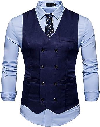 AIEOE - Chaqueta de Traje para Hombre Ropa de Chaleco de Vestido ...
