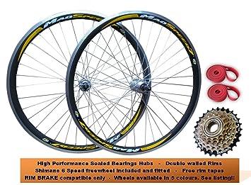 26 Mountain MTB bicicleta rueda delantera trasera de bicicleta juego de ruedas + rodamientos sellados de ...