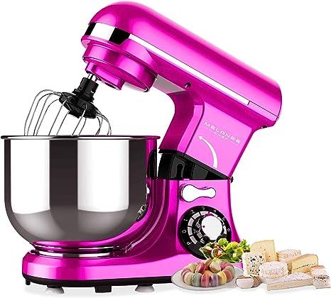 Robot de cocina Oubo Melange Chef MK18C rosa 600 W, 3 funciones principales, cuenco de acero de 4 L, 6 velocidades con indicador LED, rosa, azul, negro, rosa y verde rosa: Amazon.es: Hogar