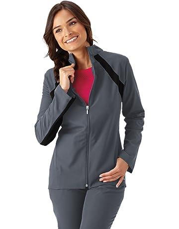 44150c8b123 Jockey Scrubs Ladies Athletic Contrast Warm-Up Scrub Jacket