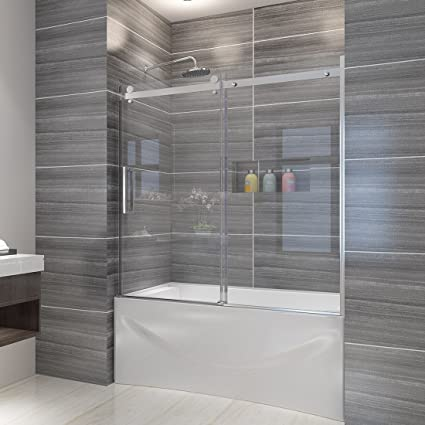 Elegant Shower 60 W X 62 H Frameless Bathtub Door 516 Clear