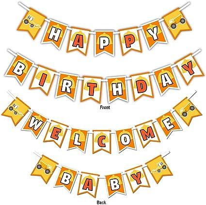 Amazon.com: Construcción Camiones Multi-Use Feliz cumpleaños ...