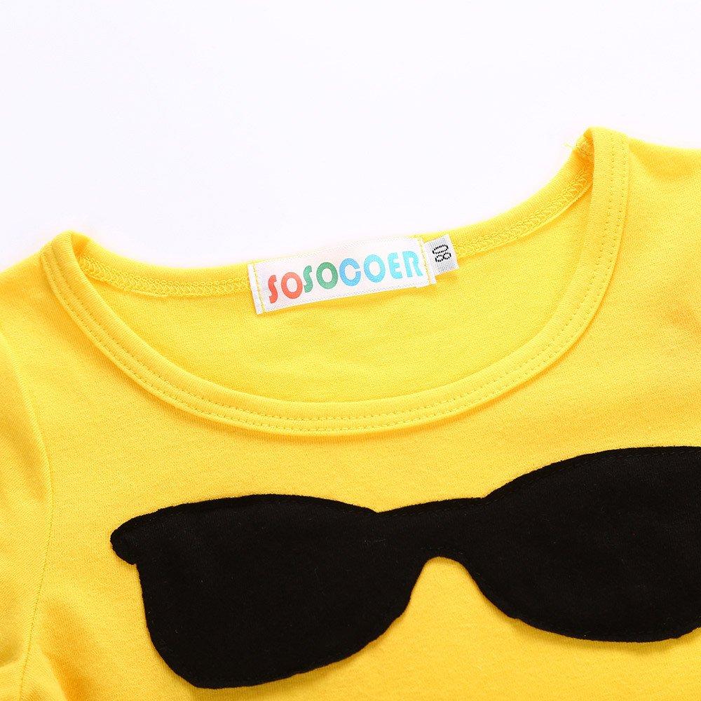 Jimmackey Neonata Bambine Vestito Emoji Sorriso Nero Abito Ginocchio-Lunghezza Dress