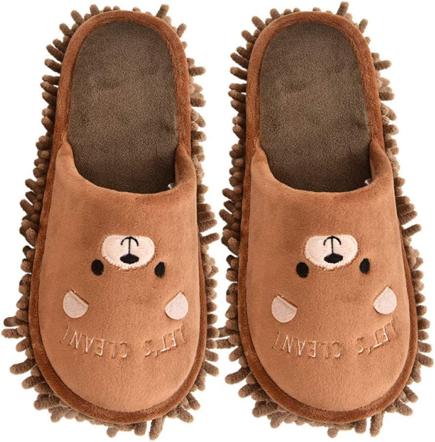 Las Zapatillas Calientes Antideslizantes se Pueden Usar en Interiores y Exteriores Rosa, EU38-39 Zapatillas Gruesas de algod/ón para Hombres y Mujeres