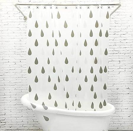 XGMSD EVA Mildew Waterproof Bathroom Curtain Raindrop Shower White Translucent240200cm